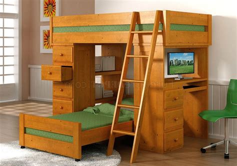 bunk bed desk combo wood loft bed with desk and stairs side desk desk underneath