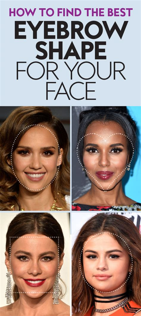 find the best eyebrow shape for your face shape magazine the best eyebrow shapes for your face instyle com