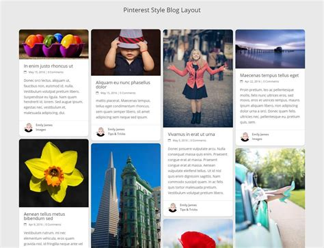 blog theme pinterest how to create a pinterest style blog layout
