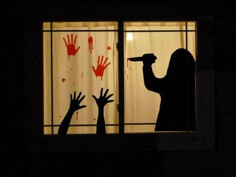1000 ideas about halloween window silhouettes on