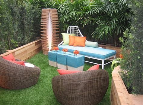 modern outdoor furniture for small spaces colorful chic outdoor furniture garden cushions