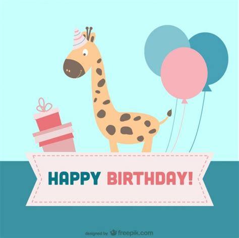 Birthday Card Images Cartoon Birthday Card Vector Free Download