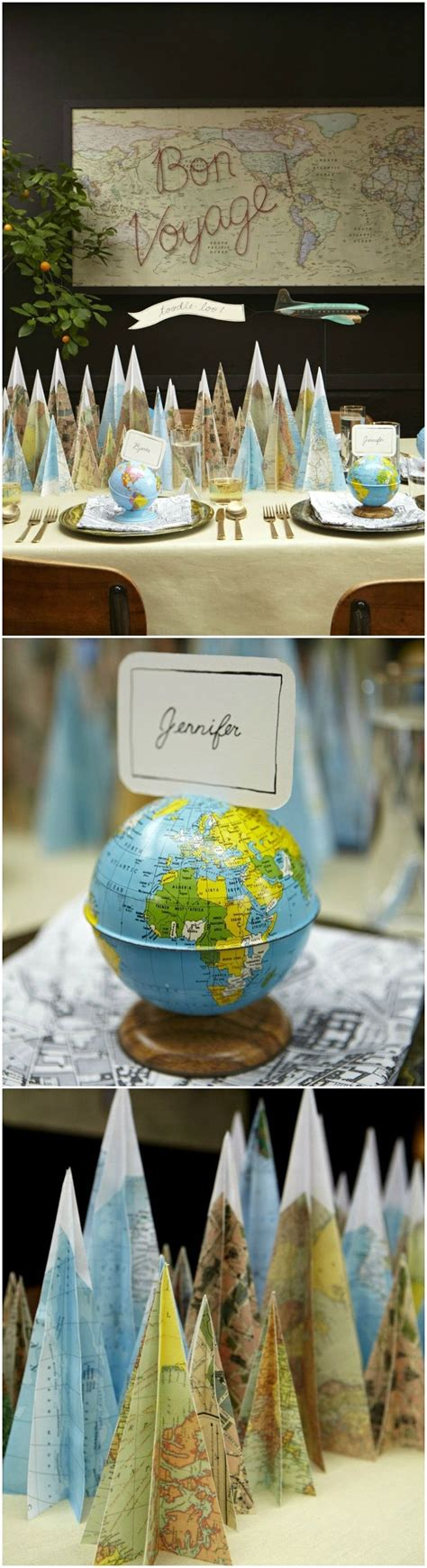 travel themed table decorations 17 best ideas about retirement centerpieces on