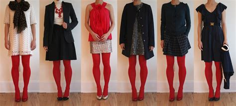 what looks good with red wear it five ways red tights fast food fast fashion