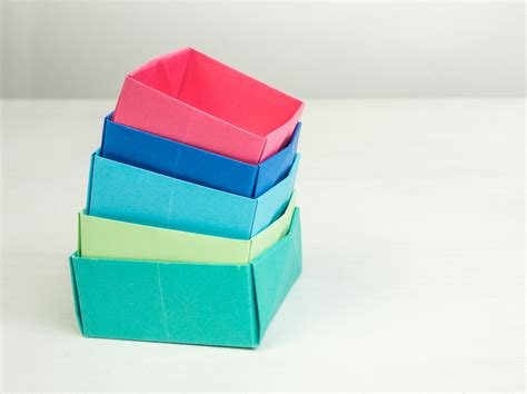 Paper Boxes To Make - origami how to make a paper box easy origami box paper