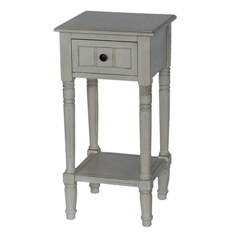 asian accent table shop decor therapy antique white asian hardwood end table