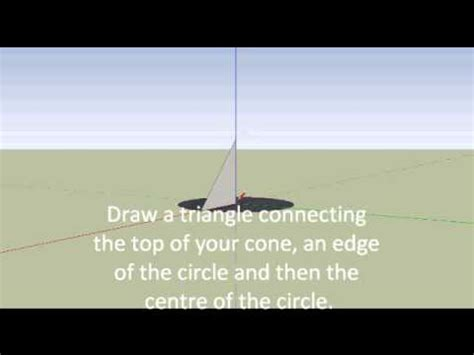 google sketchup cone tutorial google sketchup tutorial 1 how to create a cone youtube
