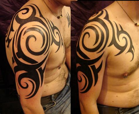 left shoulder tribal tattoo 61 tribal shoulder tattoos
