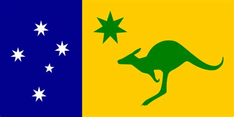 why are australia s colors green and gold file australian flag left panel kangaroo svg