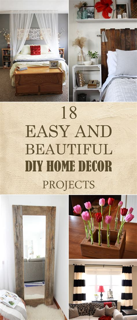 Easy Home Projects For Home Decor | 18 easy and beautiful diy home decor projects