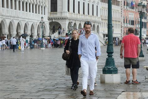 And Family Out For A Walk In Venice by Chastain And Boyfriend Gian Luca Passi De