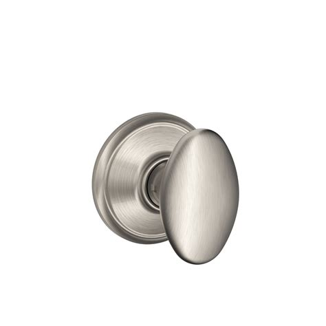 Satin Nickel Interior Door Knobs Shop Schlage Passage Siena Satin Nickel Egg Passage Door Knob At Lowes
