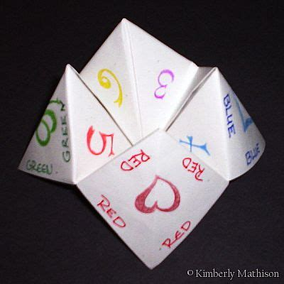 Finger Origami Fortune Teller - cootie catcher bowl things doanie likes