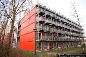 Shipping Container Apartments Amsterdam S Shipping Container Homes Are Lean And Green Photos Huffpost