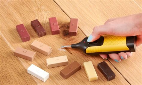 get ready for quick and clean repairs with this kit that is for touching up laminate cork