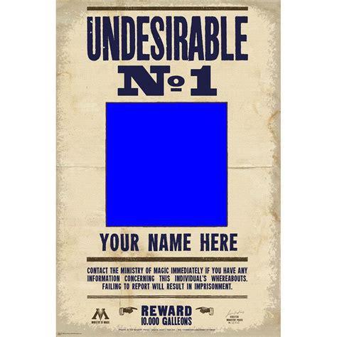 Custome Name 1 undesirable no 1 custom photo poster with custom name 10