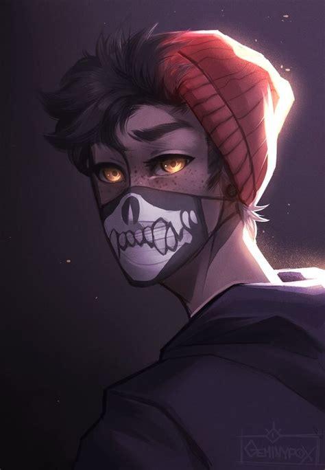skull  geminyfox black anime characters fantasy