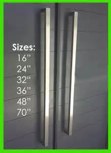 Contemporary Front Door Handles Square Pull Door Handle Entry Modern Pulls Stainless Steel Ebay