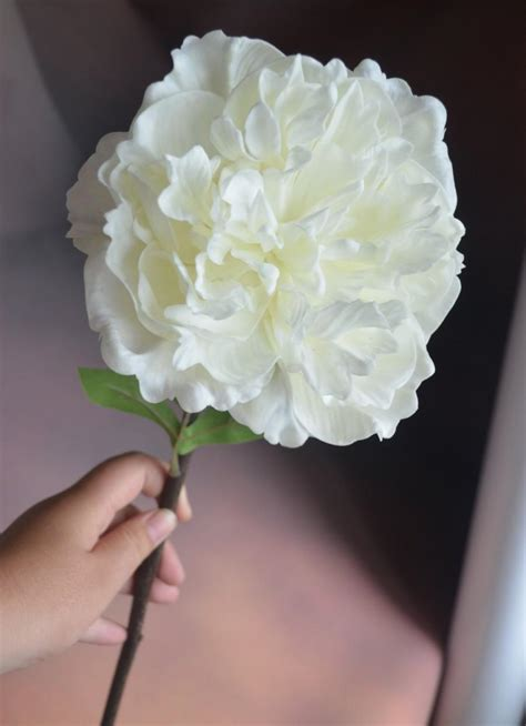 Best Single Stem Flowers Wedding Real Touch White Peony Flowers Single Stem Artificial Open