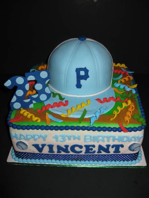 Cake Decorations At Home vincent s baseball birthday cake