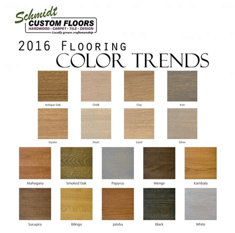 hardwood flooring colors top 4 hardwood flooring trends in 2016 schmidt custom