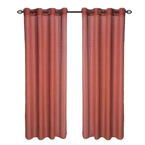 red grommet drapes lavish home red olivia jacquard grommet curtain panel 95