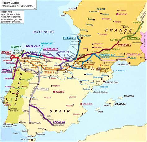 camino way map camino moz 225 rabe via de la plata seville to santiago de