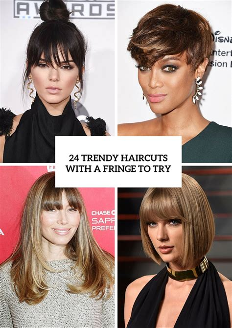 From Try To Trendy by Picture Of 24 Trendy Haircuts With A Fringe To Try