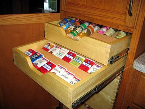 Spice Drawers Kitchen Cabinets Oak Kitchen Cabinets By Dave Haynes Lumberjocks Woodworking Community