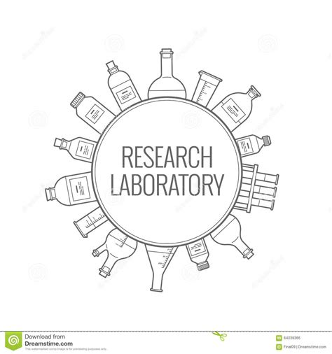 layout template flask logo chemical research laboratory stock vector image