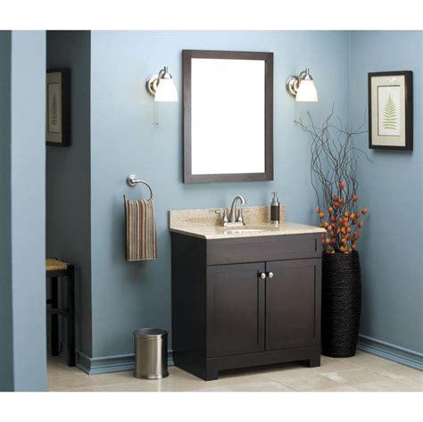 style selections longshire espresso undermount single sinkbathroom vanity with granite top