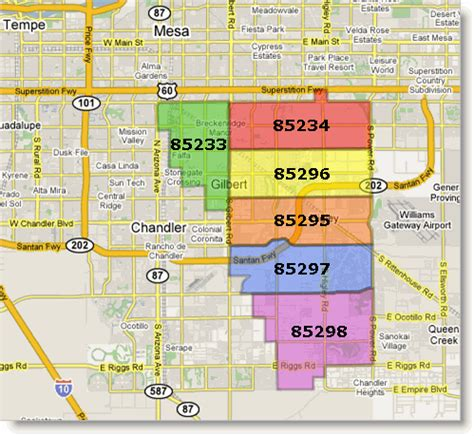 zip code map glendale az gilbert arizona new zip code map