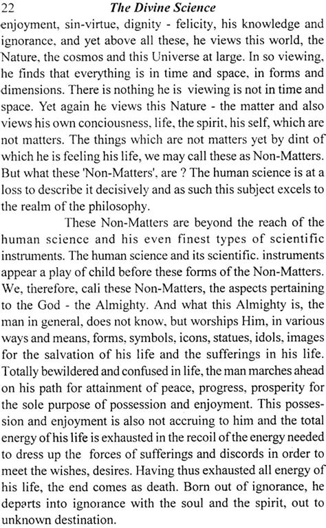 The Divine Science (A study of the emergence of Divine and