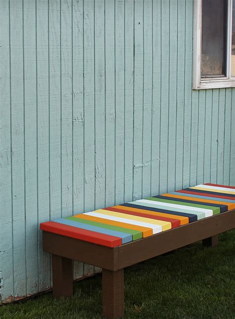 colorful bench 15 awesome diy garden benches