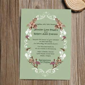 shabby chic vintage floral wedding invitation iwi275