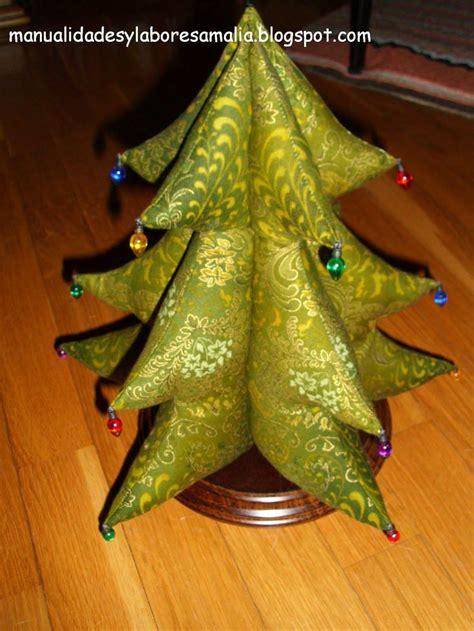 arbol de navidad de tela manualidadesylaboresamalia