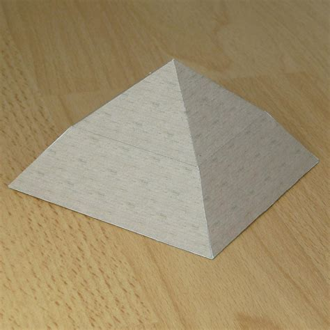 Make A Pyramid With Paper - how to make paper bent pyramid invitations ideas