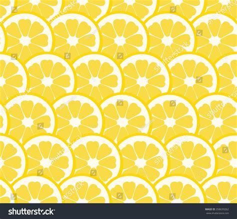 cute lemon pattern cute lemon orange slice design seamless stock vector