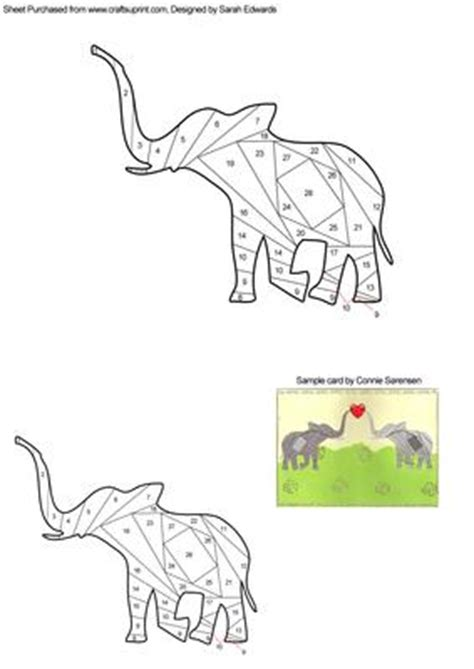 Folding Paper Animals Templates - elephant iris folding pattern cup260799 172 craftsuprint