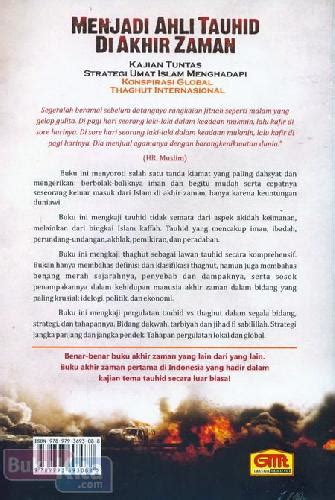 Menjadi Ahli Tauhid Di Akhir Zaman Abu Ammar bukukita menjadi ahli tauhid di akhir zaman