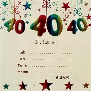 3 impressive 40th birthday invitations templates eysachsephoto