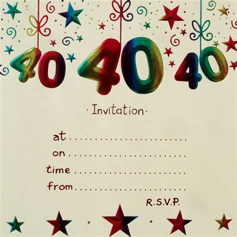 40th birthday ideas 40th birthday invitation templates