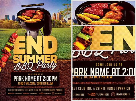 End Of Summer Flyer end of summer bbq flyer template flyerheroes