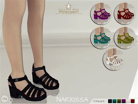 sims 4 shoes the sims resource mj95 s madlen narkissa sandals