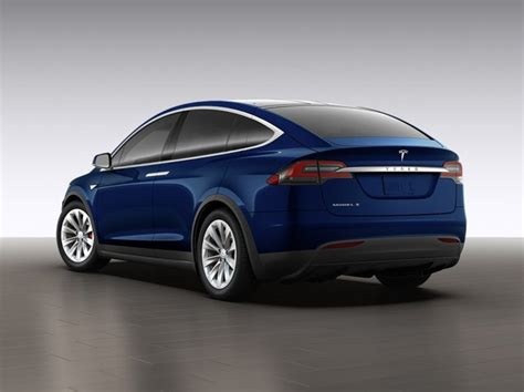 suv tesla blue tesla debuts the model x electric crossover suv