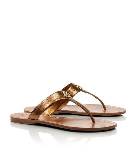 gold burch sandals burch metallic cameron sandal in gold metal