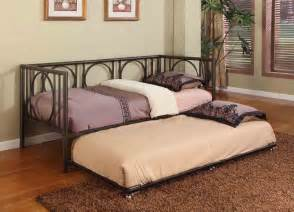 Daybed Frame With Trundle Texture Black Metal Size Day Bed Daybed Frame With Rails Trundle New Ebay