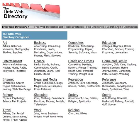 Find Directory Adding Your Website To A Web Directory Jan Klin Associates Ltd