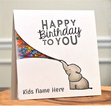 Happy Birthday Cards Write Name What To Write In A Kids Birthday Card Gangcraft Net