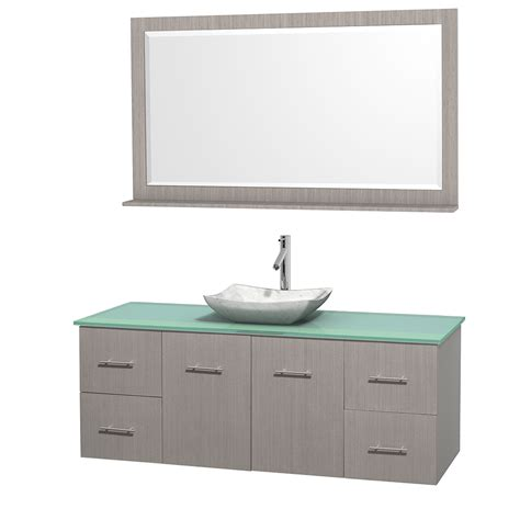 green vanity bathroom wyndham collection wcvw00960sgogggs3m58 centra 60 inch